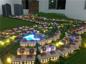 China 1/300 scale real estate development model with warm light for villas on sale