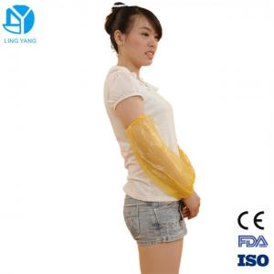 China PE  Plastic Disposable Sleeve Covers / Disposable Arm Sleeves 40x20cm Size on sale