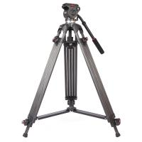 Lightweight Black Camcorder Canon Digital Camera Tripod with Fluid Head