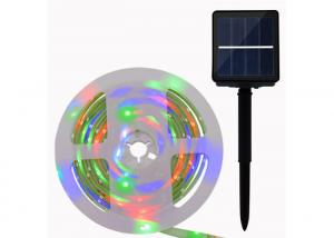 China Solar LED Flexible Strip Lights SMD 5050 RGB Colors Changing 3.7V 1800mAH on sale