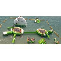 Blue With White Inflatable Water Boucer With Slide For Water Sport Games