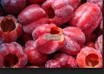 バルク有機性凍らせていた野菜のピーマンのストリップは/凍結する赤いトウガラシをスライスしました