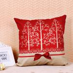 Tree Pattern Printed Cushion Covers , Comfortable Couch Pillow Covers Cotton Flax
