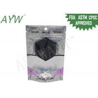 Airtight Stand Up Coffee PouchesSmell Locked Zipper, Plastic Stand Up Pouch With Metalized Liner