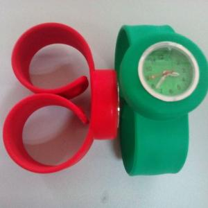 China hot selling water transfer printing silicone slap watch for kids on sale