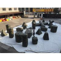 China Customized camouflage Inflatable Sports Games / Inflatable Paintball Bunkers for Shooting Games on sale
