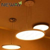 China modern ring LED light hanging steel aluminum crystal chandeliers pendant light for hotel on sale