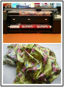 China 22 sqm / h in 4 pass Flag Printing Machine Polyster Cotton Wool Silk Material on sale