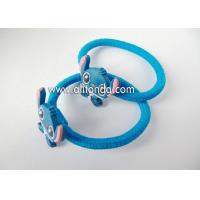 Custom lovely blue cute hair bands with rabbits dogs animal shape flexible hair bands for children little baby