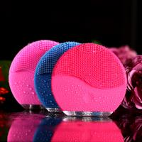 Handy Natural Silicone Electric Facial Cleanser Face Cleaning Toning Device Face Cleanser And Massager Pore Cleansing