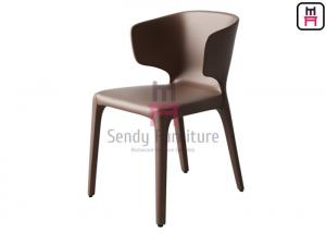 China Contemporary Style Leather Dining Chairs With Brown / Black / Gray Color on sale