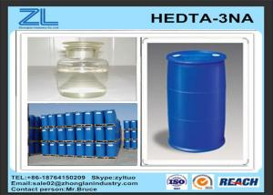 China Cas 139-89-9 DTPA Acid / light yellow clear liquid HEDTA-3NA as metal complexing agent on sale