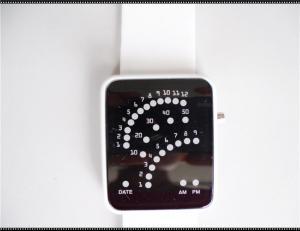 China Sports Soft Customized Silicone Wristband Watch , White Strap Watches on sale