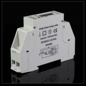 China Din rail meter single phase on sale