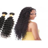 No Chemical No Smell Deep Wave Human Hair Weave , Natural Black Virgin Human Hair