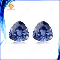 China Trillion shape lab created sapphire loose stone sale for Brazil jewelry market on sale