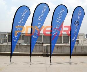 China Bandera decorativa del vuelo de la bandera de playa on sale