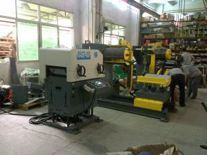 China Coil Steel Automatic Decoiler Straightener and Feeder for Press line with car accessories(MAC2-400) on sale
