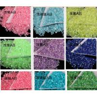 China 14 facet cut neon ab stone resin stone acrylic stone for phone cover decoration on sale