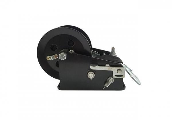 CE Approved 2500 Lb Manual Winch , Black Strap Small Hand