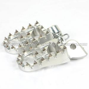 China Customized Dirt Bike Foot Pegs With Super Aggressive High Tempered Steel Teeth on sale