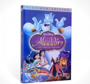 China 2018 Hot sell Aladdin Special Edition disney dvd movies cartoon dvd movies kids movies with slip cover case drop ship on sale