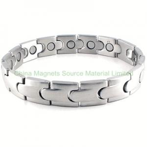 China Stainless Steel Link Magnetic Bracelet on sale