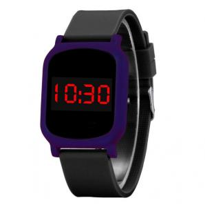 China Colorful Square Led Watch Touch Screen With Chinese Electronic Movement on sale