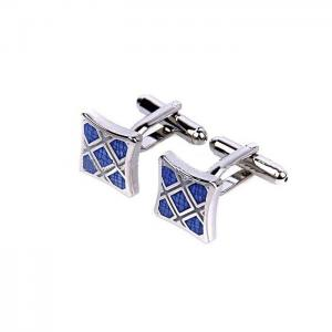China Personalised Mens Cufflinks , Silver Plated Cufflinks With Initials Engraved on sale