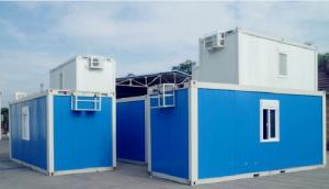 China Advanced Custom Container House , Blue Portable Container House With Bathroom on sale