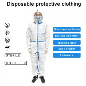 China Elastic Band Cuffs Civil / Medical Protective Coverall Clothing on sale