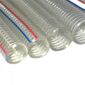 China 10 inches Heat Resistant Corrugated Tube Plastic Pipe PVC stainless steel wire braided hose on sale