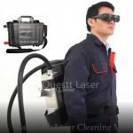 50w Portable Laser Cleaning Machine For Rust Removal Backpack with Ternary Lithium Battery