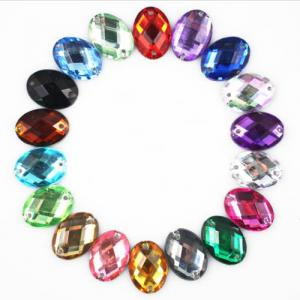 China 10x14mm Oval Sew on Acryl Diamante; Sew-on Stones for Bridal Dress; Sew-On Jewels for Garments on sale
