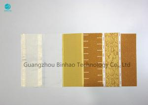 China 100% Virgin Pulp Cork Tipping Paper With Perforation , Natural And High Permeability supplier