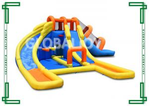 China PVC Tarpaulin Water Inflatable Slide 8m*6m*4m For Amusement Park on sale