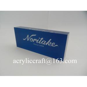 China Solid Clear Perspex Print Block Wholesale, Acrylic Brand Logo Block on sale