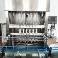 Touch Screen Operate Auto Bottle Filling Machine With Stainless Steel Frame