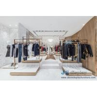 Fashion Brand clothing store Design Stainless steel display racks with Shelves and Reception Leisure Furniture couch