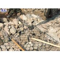 PVC Coated Stone Basket Retaining Walls Woven Hexagonal Mesh 3 Years Warranty