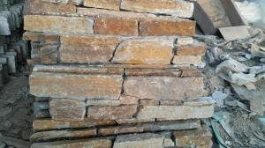 China Cut To Size Wall Stone Claddings Mesh Paving Stones Quartzite Type 15 * 60cm on sale