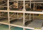 高密度薄い灰色の流れの棚の棚付けは、産業パレット頑丈悩まします