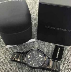 ... Quality Emporio Armani AR2453 Classic All Black Ion-Plated Men s SS  Bracelet Watch for sale 3c191f6583a