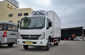 China 3 Ton Small Cooling Van Refrigerated Freezer Truck , Manual Refrigerated Box Van on sale