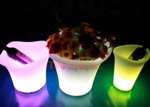 China Eco - Friendly Material LED Glow Furniture , LED Flower Pot For Coffee Shop on sale