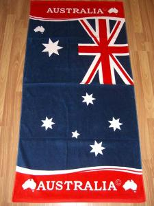 China 100% Cotton Flag Beach Towels With Reactive Printed on sale