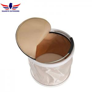 China Collapsible Bucket Water Storage Container Barrel with Lid Portable Folding Wash Basin for Hiking Fishing on sale