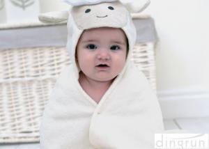 China 100% serviettes à capuchon de Bath de bébé de coton, serviettes à capuchon d'enfant en bas âge avec le logo de broderie on sale