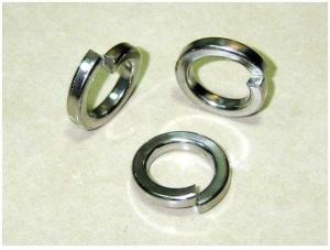 China Din 127 B Carbon Steel Spring Washer M12 Size Hot Galvanizing White Color on sale