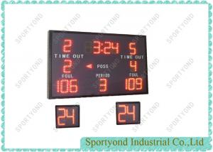 Electronic High School Basketball Scoreboard With Shot Clock Counter